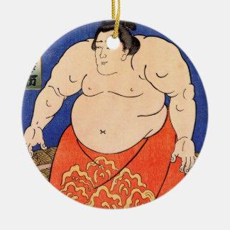 The Sumo Wrestler, Kuniyoshi Utagawa Ceramic Ornament