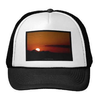 The sun 004 - Sunset at the mountains Trucker Hat