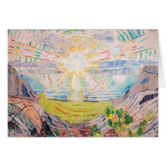 The Sun by Edvard Munch Card