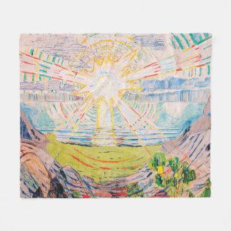 The Sun by Edvard Munch Fleece Blanket