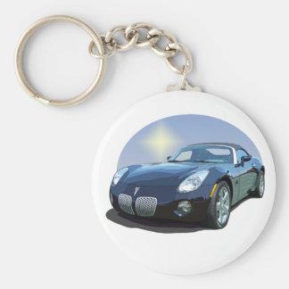 The Sun Car Basic Round Button Keychain