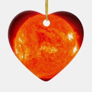 The Sun Ceramic Heart Ornament