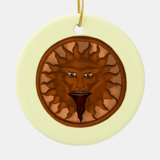 The Sun God (Ra) (Bronze) Round Ceramic Ornament