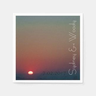 The Sun Rises Paper Napkin