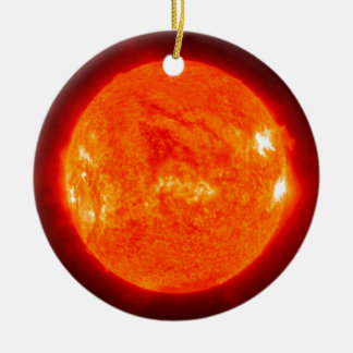 The Sun Round Ceramic Ornament