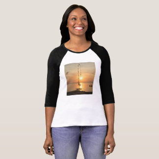 The sun shining around a Bali bamboo lucky lantern T-Shirt