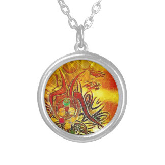 The Sun Silver Plated Necklace