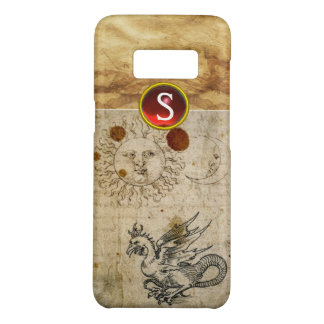 THE SUN THE MOON AND BASILISK PARCHMENT Monogram Case-Mate Samsung Galaxy S8 Case