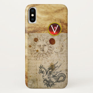 THE SUN THE MOON AND BASILISK PARCHMENT Monogram iPhone X Case