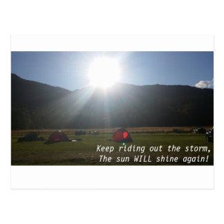 The sun will shine postcard
