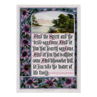 The Sunday at Home 1880 Revelation 22-17 Poster
