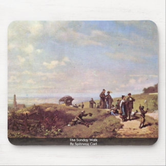 The Sunday Walk By Spitzweg Carl Mouse Pad