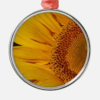 The Sunflower and its meaning Silver-Colored Round Ornament