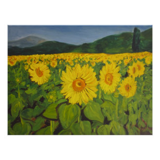 The Sunflower Field Poster