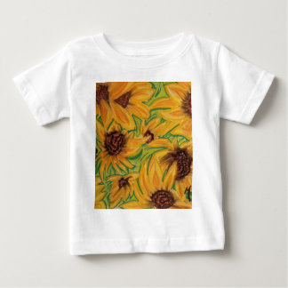 The Sunnies Sunflowers by Michael David Baby T-Shirt