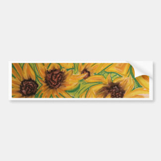 The Sunnies Sunflowers by Michael David Bumper Sticker