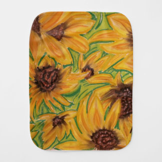 The Sunnies Sunflowers by Michael David Burp Cloth