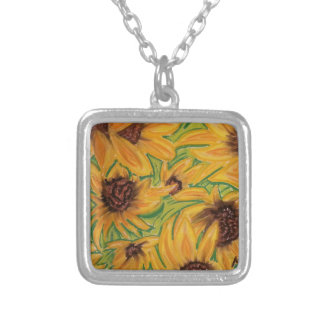 The Sunnies Sunflowers by Michael David Silver Plated Necklace
