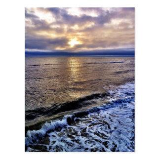 The sunrise on the obx of North Carolina coast Postcard