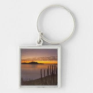 The sunrise over Isla Danzante in the Gulf of 2 Key Chains