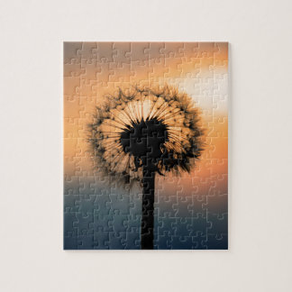 The Sunset and the Fragile Dandelion Jigsaw Puzzle