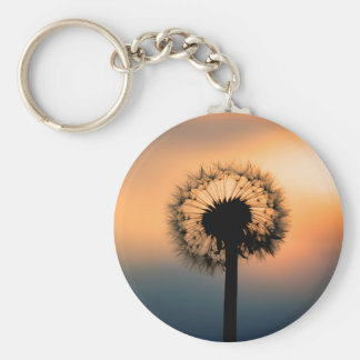 The Sunset and the Fragile Dandelion Keychain