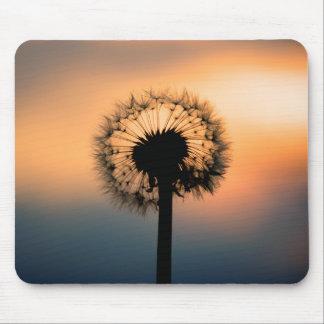 The Sunset and the Fragile Dandelion Mouse Pad
