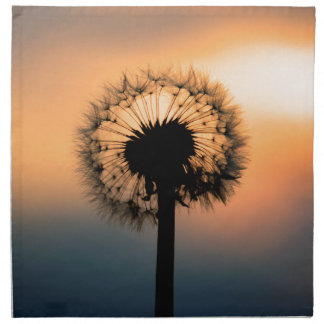 The Sunset and the Fragile Dandelion Napkin