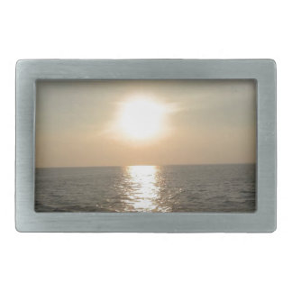 The Sunset at Bantayan Island in the Philippines Belt Buckle