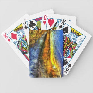 The Sunset River Van Gogh Bicycle Playing Cards