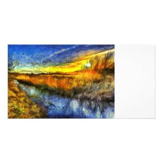The Sunset River Van Gogh Card