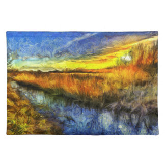 The Sunset River Van Gogh Placemat