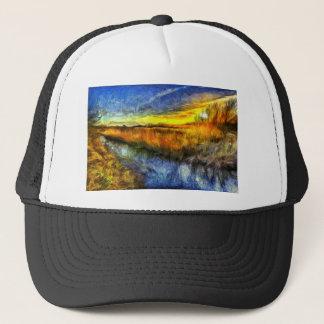 The Sunset River Van Gogh Trucker Hat