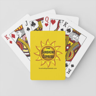 The Sunshine Express souvenir playing cards