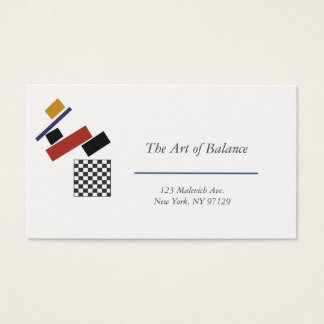 The Super Checker, After Malevich Business Card