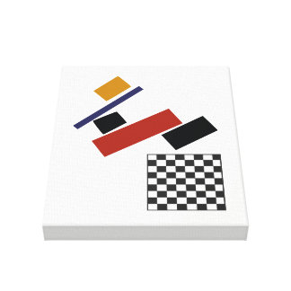 The Super Checker, After Malevich Canvas Print