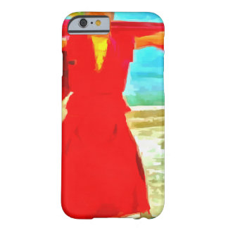 The super fit monk in red barely there iPhone 6 case