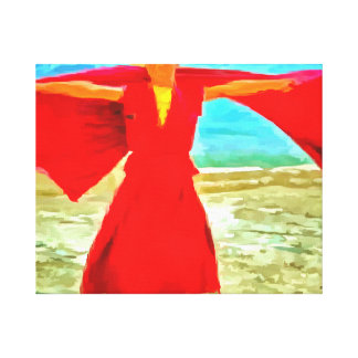 The super fit monk in red canvas print