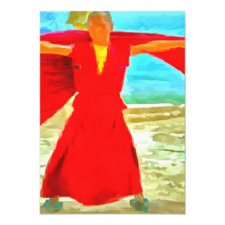 The super fit monk in red card