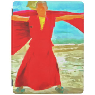 The super fit monk in red iPad cover