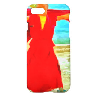 The super fit monk in red iPhone 7 case
