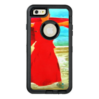 The super fit monk in red OtterBox defender iPhone case