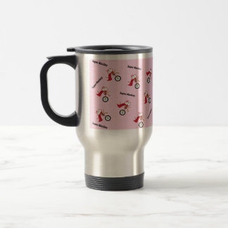 The Super Monkey That All The Kids Love In Pink 15 Oz Stainless Steel Travel Mug
