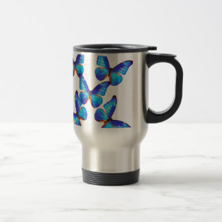 """The superior product """"of Morpho Butterfly"""" 15 Oz Stainless Steel Travel Mug"""