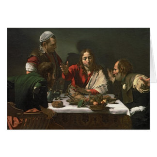 The Supper at Emmaus, 1601 2 Card