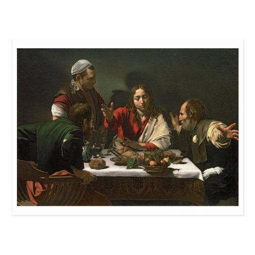 The Supper at Emmaus, 1601 (oil and tempera) Post Cards