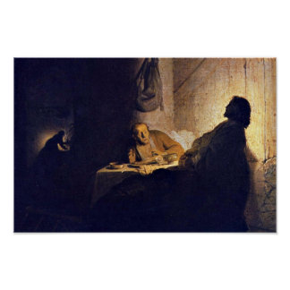 The Supper At Emmaus. By Rembrandt Van Rijn Poster