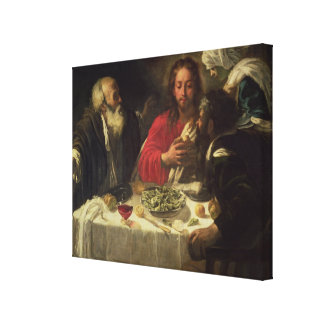 The Supper at Emmaus, c.1614-21 Stretched Canvas Print