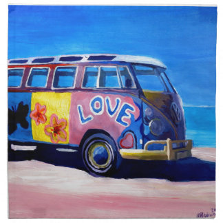 The surf Bus Series - The Love Surf Bus Napkin
