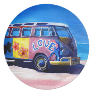 The surf Bus Series - The Love Surf Bus Party Plate